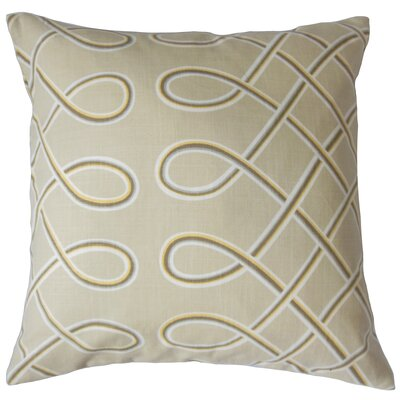 Deance Geometric Cotton Throw Pillow Color: Twine, Size: 18 x 18