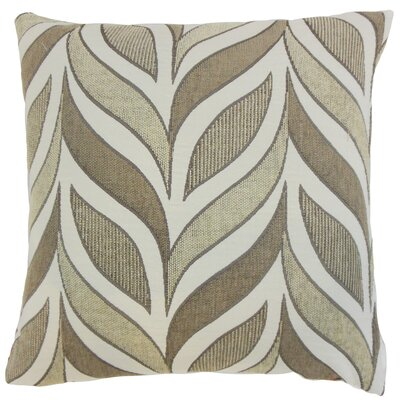 Veradis Geometric Throw Pillow Cover Size: 18 x 18, Color: Driftwood