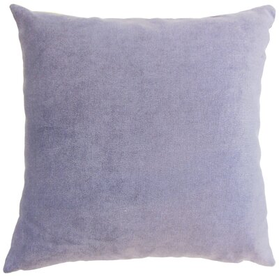Xyla Solid Throw Pillow Cover Size: 18 x 18, Color: Violet