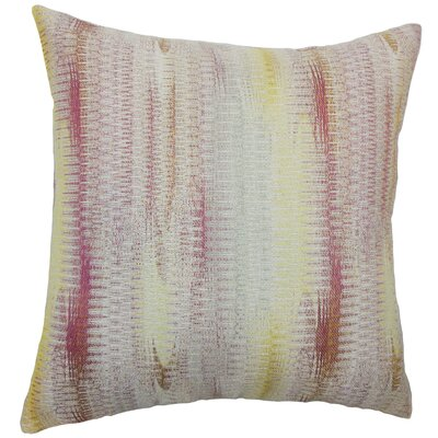 Ngozi Throw Pillow Color: Freesia, Size: 18 x 18