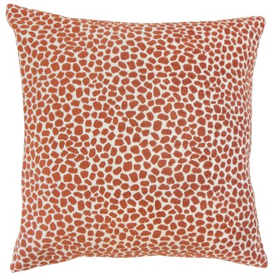 Wihe Throw Pillow Color: Chili, Size: 18 x 18