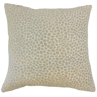 Badr Geometric Throw Pillow Cover Color: Ivory