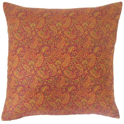 Jahzara Paisley Cotton Throw Pillow Size: 18 x 18