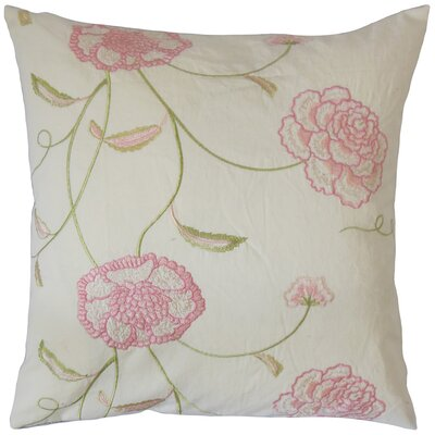 Bellona Floral Cotton Throw Pillow Size: 18 x 18