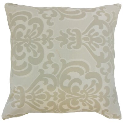 Sarane Damask Throw Pillow Cover Size: 18 x 18, Color: Ivory