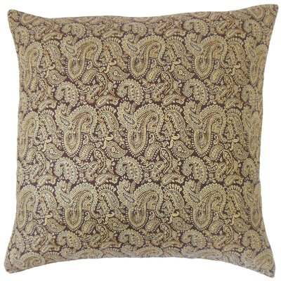 Laraib Paisley Cotton Throw Pillow Size: 18 x 18