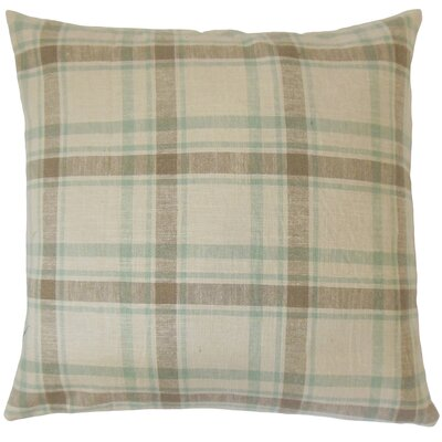 Quinlan Plaid Cotton Throw Pillow Size: 18 x 18