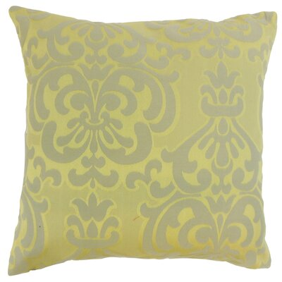 Sarane Damask Throw Pillow Cover Size: 18 x 18, Color: Lichen
