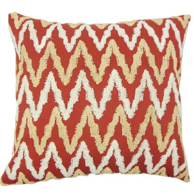 Chavi Zigzag Cotton Throw Pillow Size: 18 x 18
