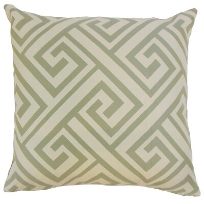 Josue Geometric Bedding Sham Size: King, Color: Celadon