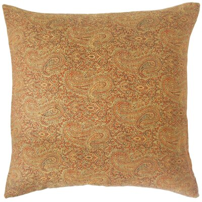 Carabella Paisley Cotton Throw Pillow Size: 18 x 18