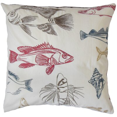 Seamus Marine Coastal Cotton Throw Pillow Size: 18 x 18