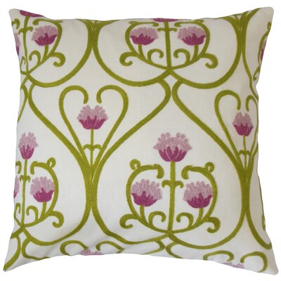 Makenna Floral Cotton Throw Pillow Size: 18 x 18