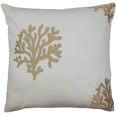 Ziza Acetate Throw Pillow Color: Natural, Size: 18 x 18