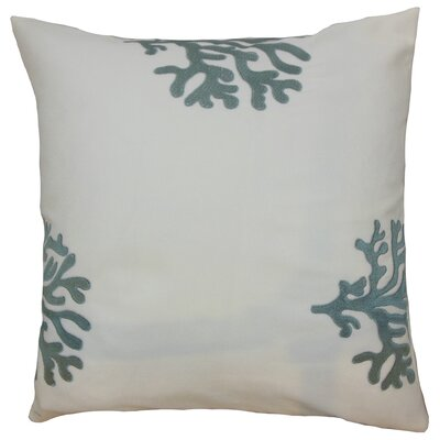 Ziza Acetate Throw Pillow Color: Grey, Size: 18 x 18