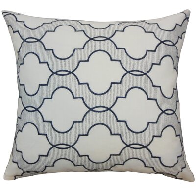 Apolinne Geometric Throw Pillow Color: Navy, Size: 18 x 18