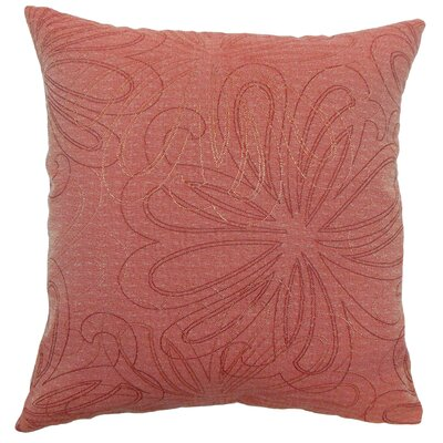 Pomona Floral Throw Pillow Color: Claret, Size: 18 x 18