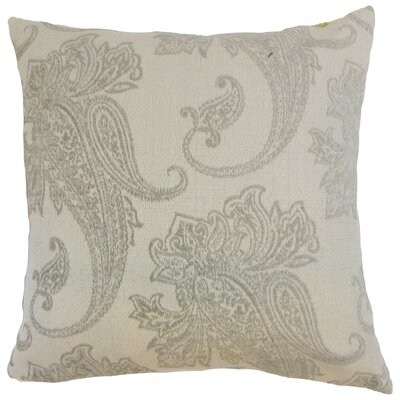 Galia Paisley Bedding Sham Size: Queen, Color: Linen