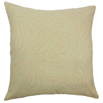 Pomona Floral Throw Pillow Color: Freesia, Size: 18 x 18