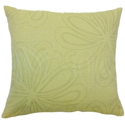 Pomona Floral Throw Pillow Color: Hemlock, Size: 18 x 18