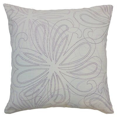 Pomona Floral Throw Pillow Color: Orchid, Size: 18 x 18