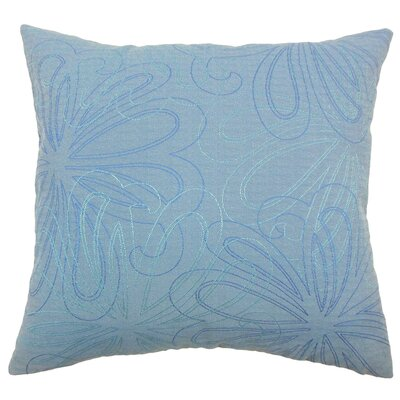 Pomona Floral Throw Pillow Color: Blue, Size: 18 x 18
