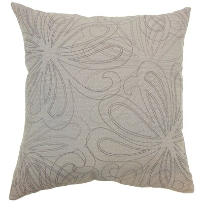 Pomona Floral Throw Pillow Color: Sand, Size: 18 x 18