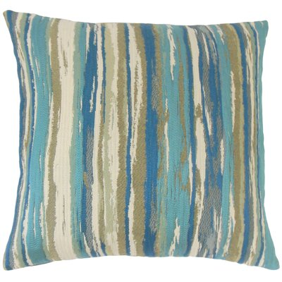 Spero Throw Pillow Color: Caribbean, Size: 24 x 24
