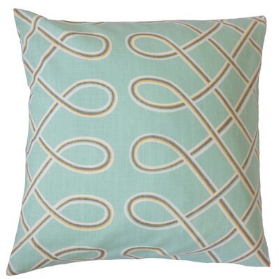 Deance Geometric Cotton Throw Pillow Color: Pool, Size: 18 x 18