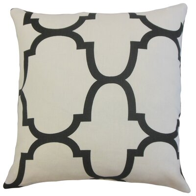 Cascade Linen Throw Pillow Color: Jet, Size: 18 x 18