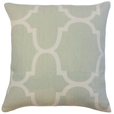Channon Geometric Bedding Sham Size: King, Color: Seafoam
