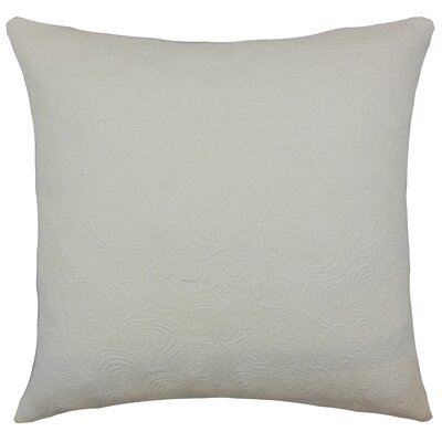 Bay Graphic Cotton Throw Pillow Color: Ivory, Size: 18 x 18