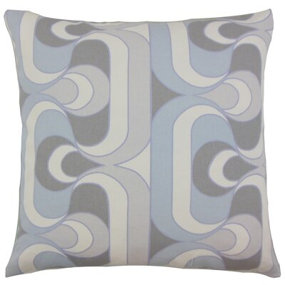 Nairobi Cotton Throw Pillow Color: Pewter, Size: 18 x 18