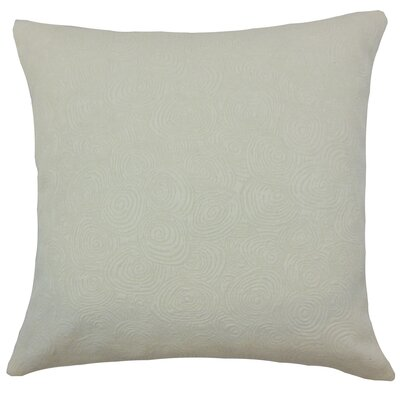 Bay Graphic Cotton Throw Pillow Color: Shell, Size: 18 x 18