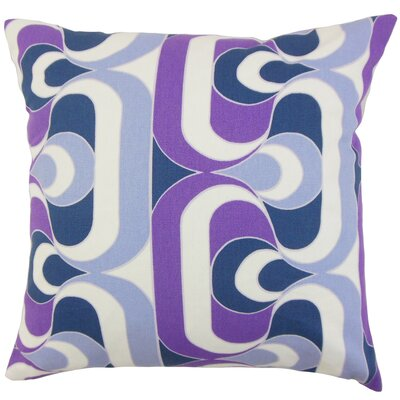 Nairobi Cotton Throw Pillow Color: Plum, Size: 18 x 18