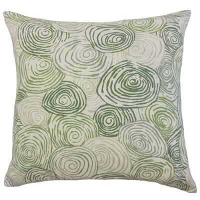 Blakesley Linen Throw Pillow Color: Grass, Size: 18 x 18