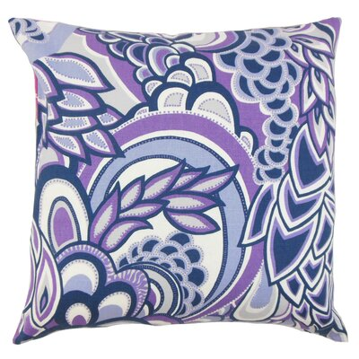 Michal Floral Throw Pillow Color: Plum, Size: 18 x 18