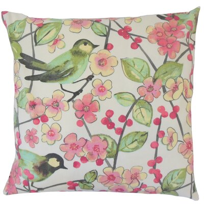 Tattuye Floral Cotton Throw Pillow