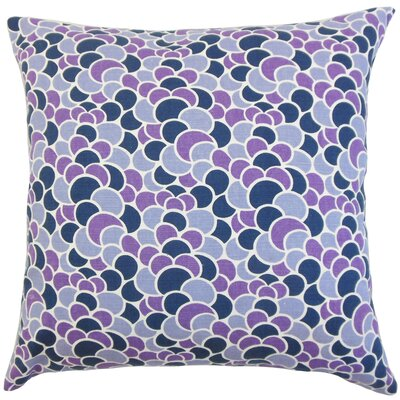 Lily Geometric Bedding Sham Size: Euro, Color: Plum