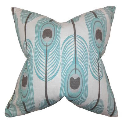 Hedy Feather Pillow Color: Blue, Size: 18 x 18