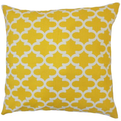Benoite Geometric Throw Pillow Color: Yellow, Size: 18 x 18