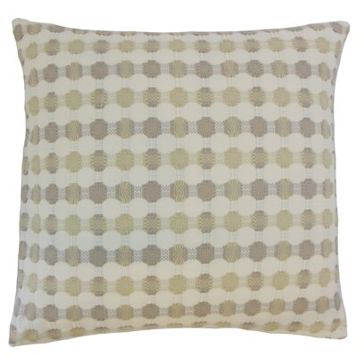 Erela Throw Pillow Color: Mushroom, Size: 18 x 18