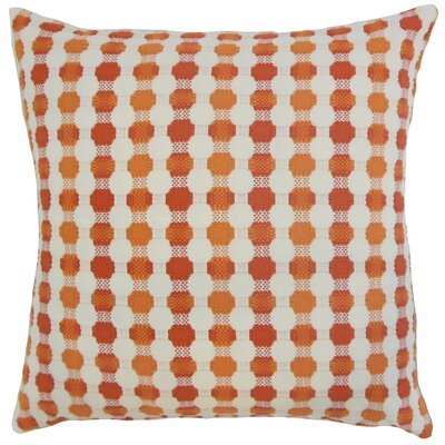 Erela Geometric Bedding Sham Size: King, Color: Tangerine