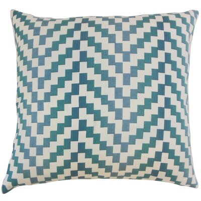 Dhiren Geometric Throw Pillow Color: Lagoon, Size: 20