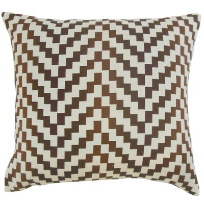 Dhiren Geometric Bedding Sham Size: King, Color: Mahogany
