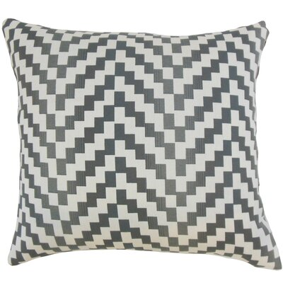 Dhiren Geometric Throw Pillow Color: Zinc, Size: 18 x 18