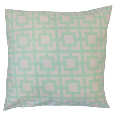 Ianto Geometric Cotton Throw Pillow Color: Mint, Size: 18 x 18