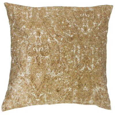 Derica Paisley Throw Pillow Color: Copper, Size: 22 x 22