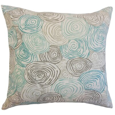 Blakesley Linen Throw Pillow Color: Wet Rock, Size: 18 x 18
