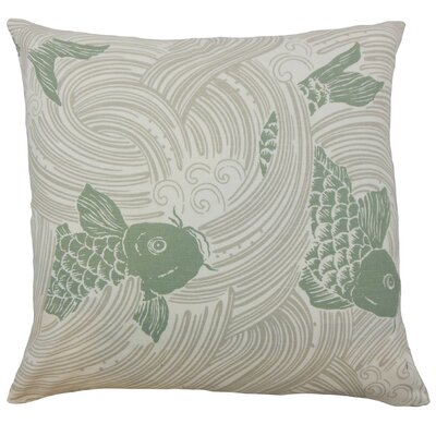 Ailies Graphic Throw Pillow Color: Kelp, Size: 18 x 18